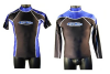 MENS LYCRA WETSUIT RASH VEST SHORT & LONG SLEEVE S, M, L, XL and XXL